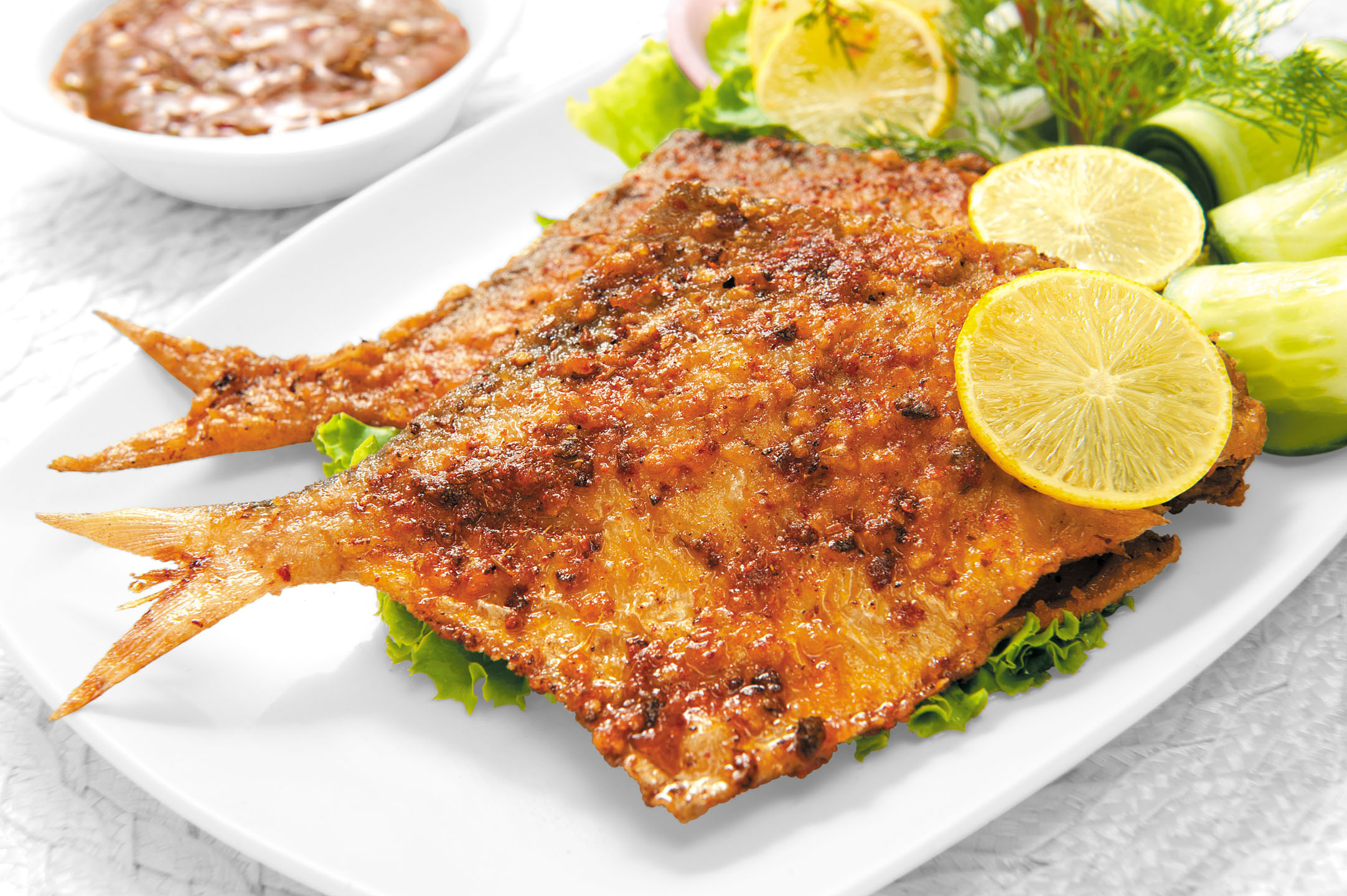 Recipe description for Deep fried whole fish